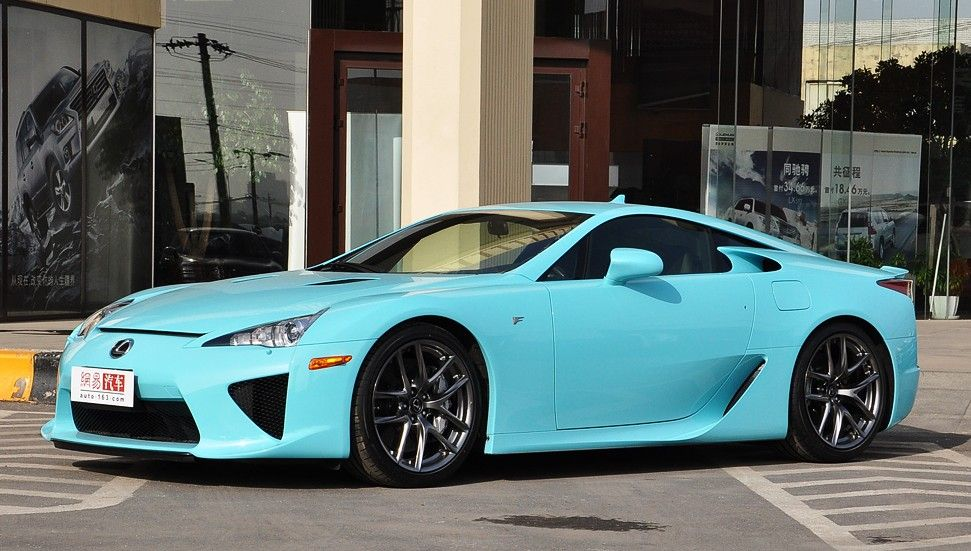 Lexus LFA ...mmmhhh Think I Can Get Used To The Baby Blue ; )