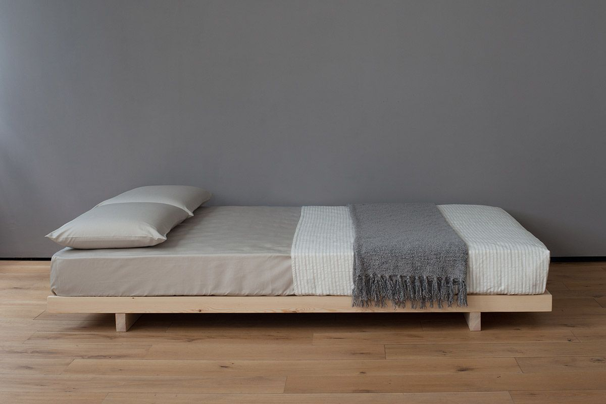 Kobe Low Bed Solid Wood Natural Bed Company Low Bed Frame Japanese Bed Frame Japanese Style Bed