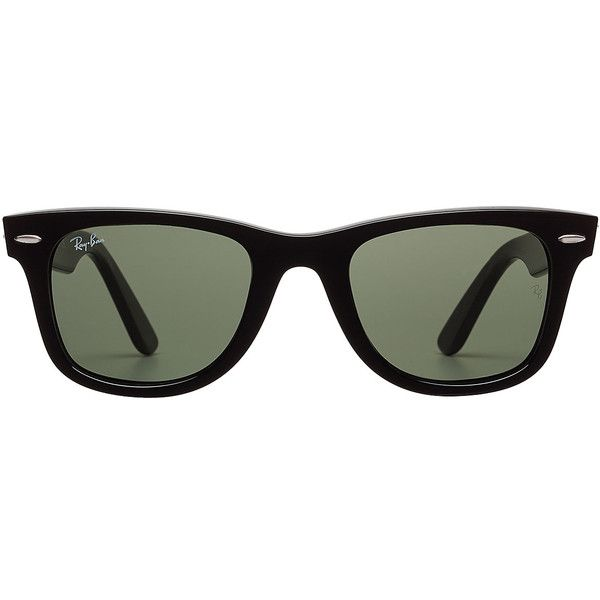 fe7fce068a22d Ray-Ban RB2140 Wayfarer Classic Sunglasses (425 BRL) ❤ liked on Polyvore  featuring