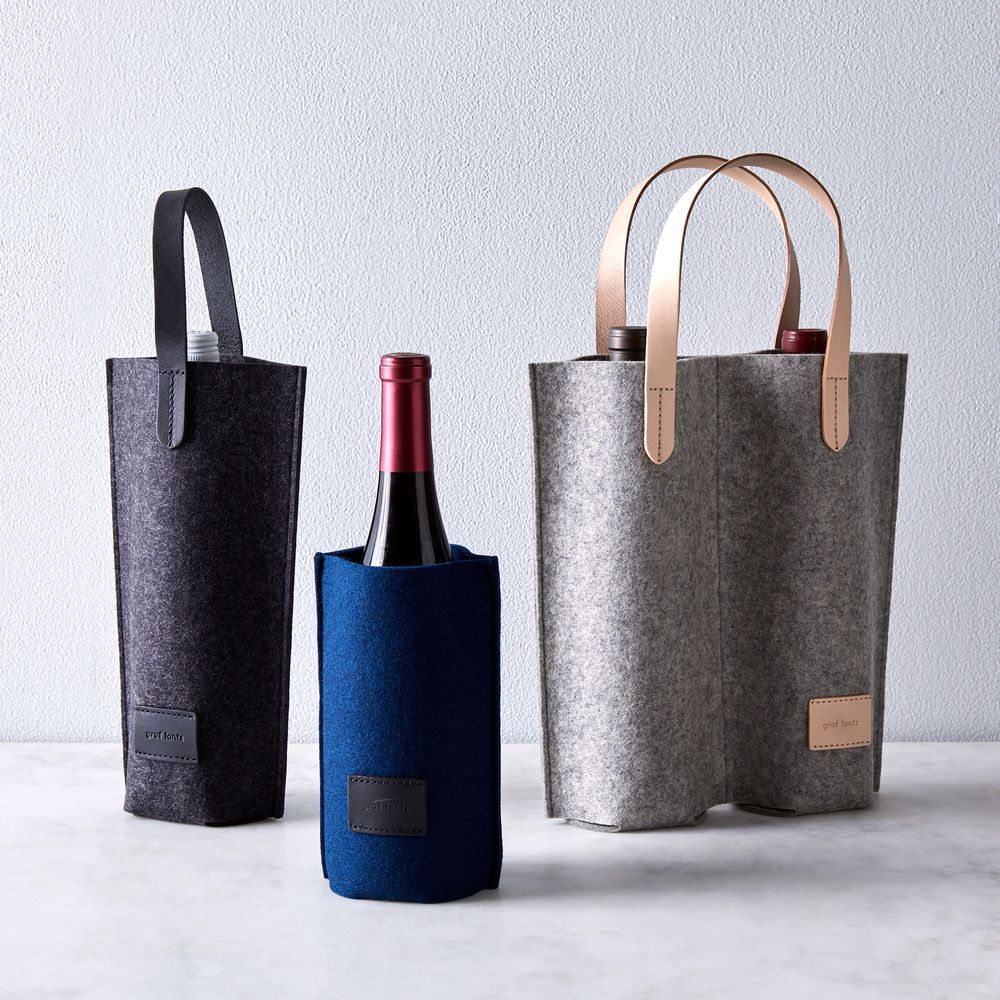 Felt Wine Carrier In 2020 Wine Bag Leather Wine Case Wine Carrier