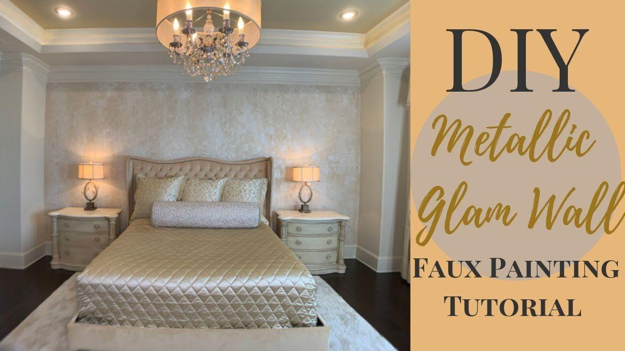 Diy metallic glam wall textured faux painting tutorial