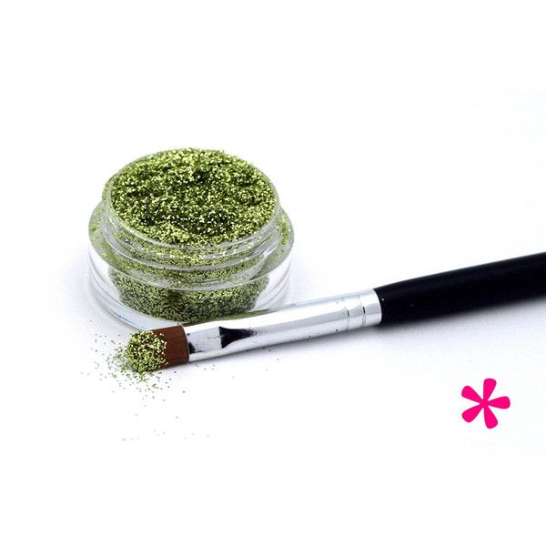LIGHT GREEN Cosmetic Glitter Lime, Loose Glitter Supply, Makeup... ($7.95) ❤ liked on Polyvore featuring beauty products, makeup, lip makeup, lip gloss, glitter lipgloss, shiny lip gloss, sparkle lip gloss and glossy lip gloss