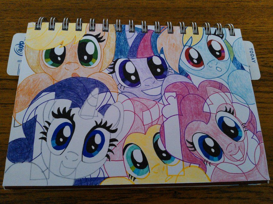 My Little Pony Friendship Is Magic Coloring Pages Fluttershy : The mane 6 my little pony: friendship is magic pinterest pony
