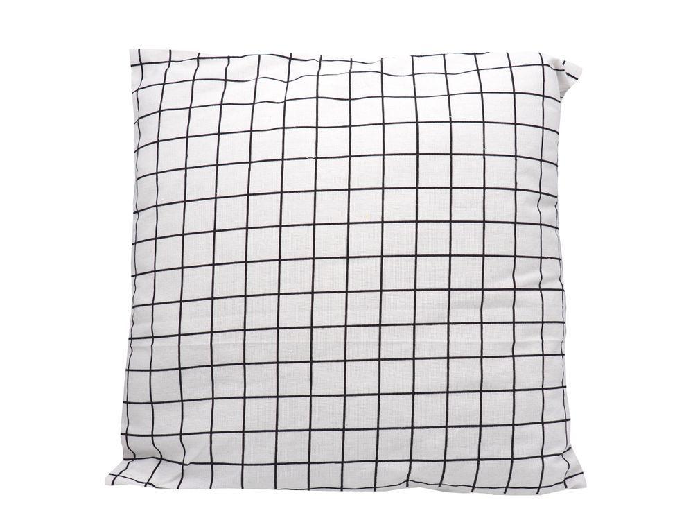Kissen Modern Karo Muster Minimalistisch Schwarz Weiß Deko