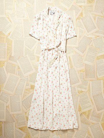Vintage 1960s Floral House Dress