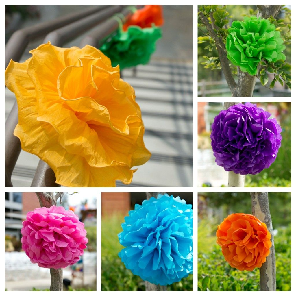 Dia De Los Muertos Wedding Theme Ideas: Handmade Paper Flowers To Decorate The Ceremony Space With