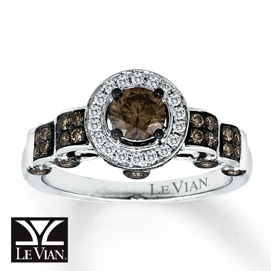 ring engagement le chocolate bands to zoom vanilla en hover mv tw round diamond gold ct zm kaystore cut kay diamonds vian
