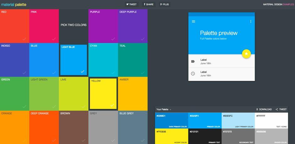 Trendy Web Color Palettes And Material Design Color Schemes