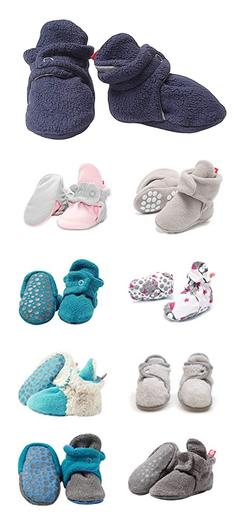 fd8094577fd7 Zutano Booties Unisex Baby Booties For Boys Girls Fleece Winter ...
