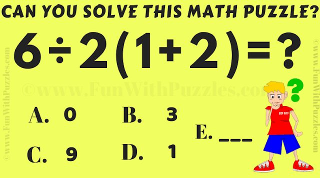 Maths IQ Test Puzzle with Answer | Math, Maths puzzles ...
