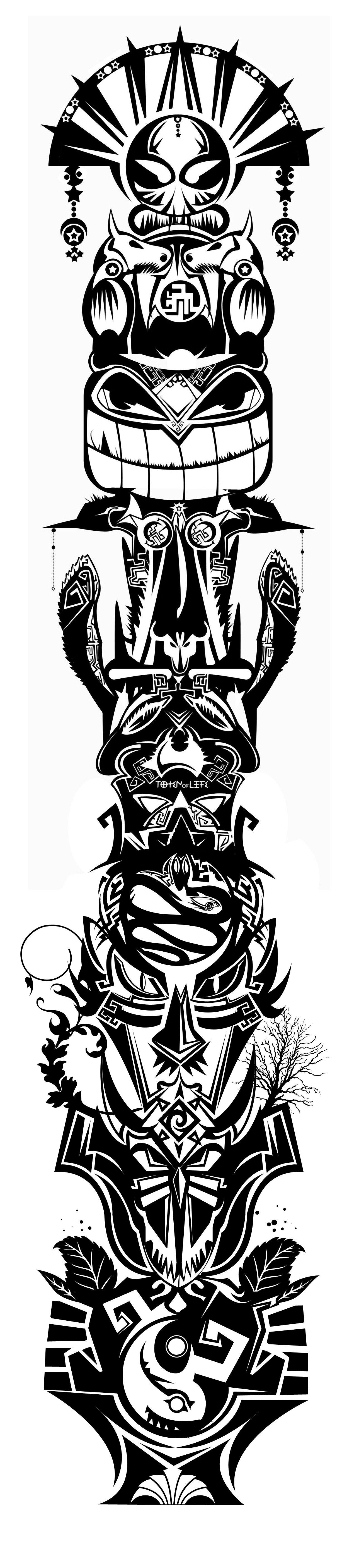 totem pole print cool stuff for my house pinterest totem