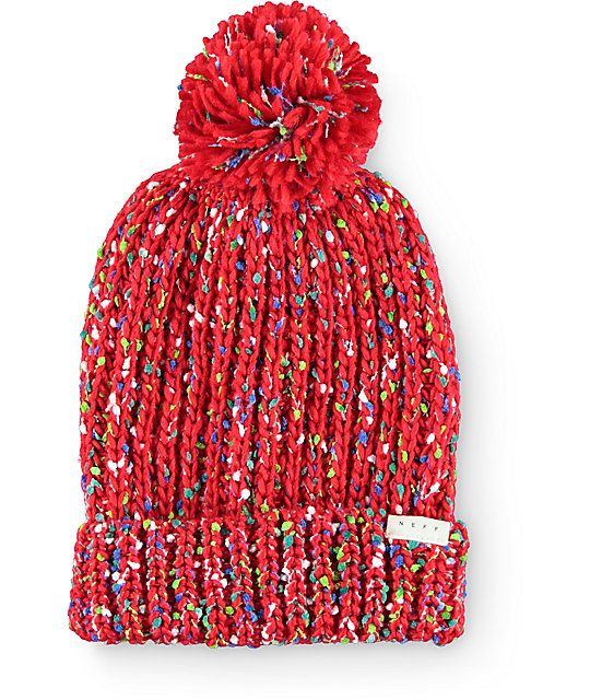 Make your outfit pop with the colorful style of this pom beanie made with a  cuffed design and a thick stretchy knit construction that is accented with  ... 1e0724e4b63