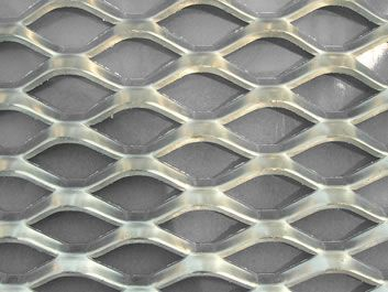 One Raised Expanded Metal Sheet With Uniform Diamond Shaped Openings Expanded Metal Metal Metal Sheet