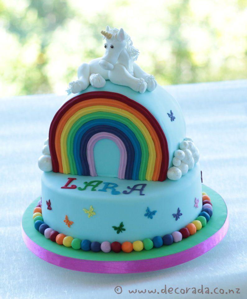 Magical Rainbow Unicorn Cake Cakes Pinterest