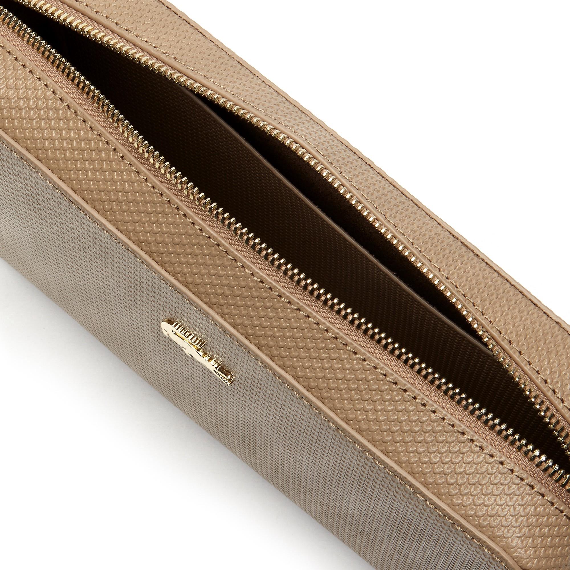 d01abf9da9654 Lacoste Women s Chantaco Piqué Leather Square Crossover Bag - Peacoat Gold