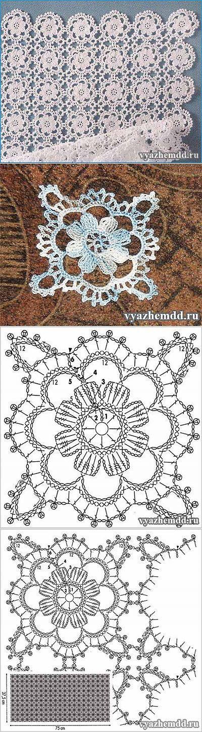 Маленькие мотивы крючком | Мил | <br/> Crochet | Blusas a crochet ...