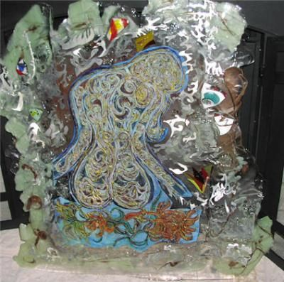 Resin Art - Senerity Of Soul With Child - Resin And Metal