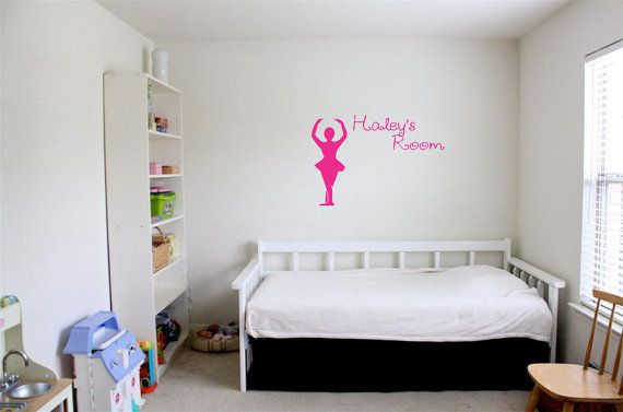 Princess Dancer Decal Girls Bedroom Wall Decals Dancer Wall Decal - Custom vinyl wall decals dance