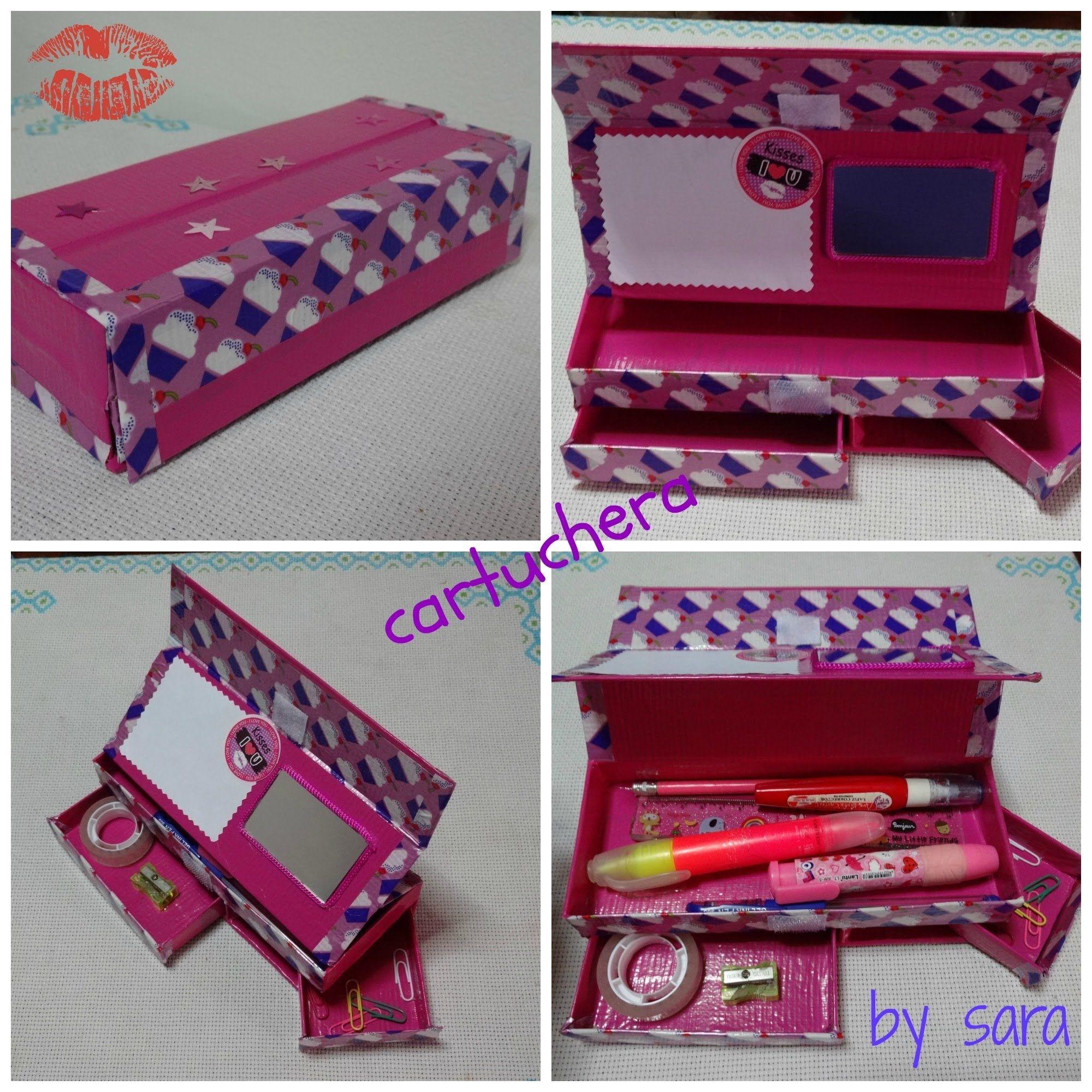 DIY cartuchera pencil case CAJAS Pinterest