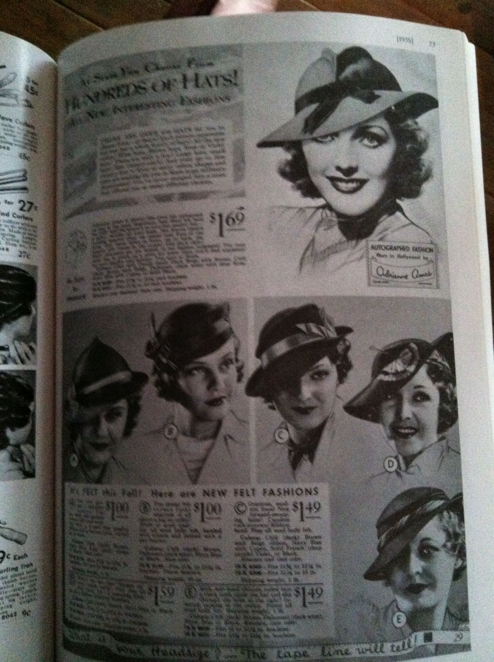 1930s Fall and Winter hats from Sears catalogs  c3af76561b4