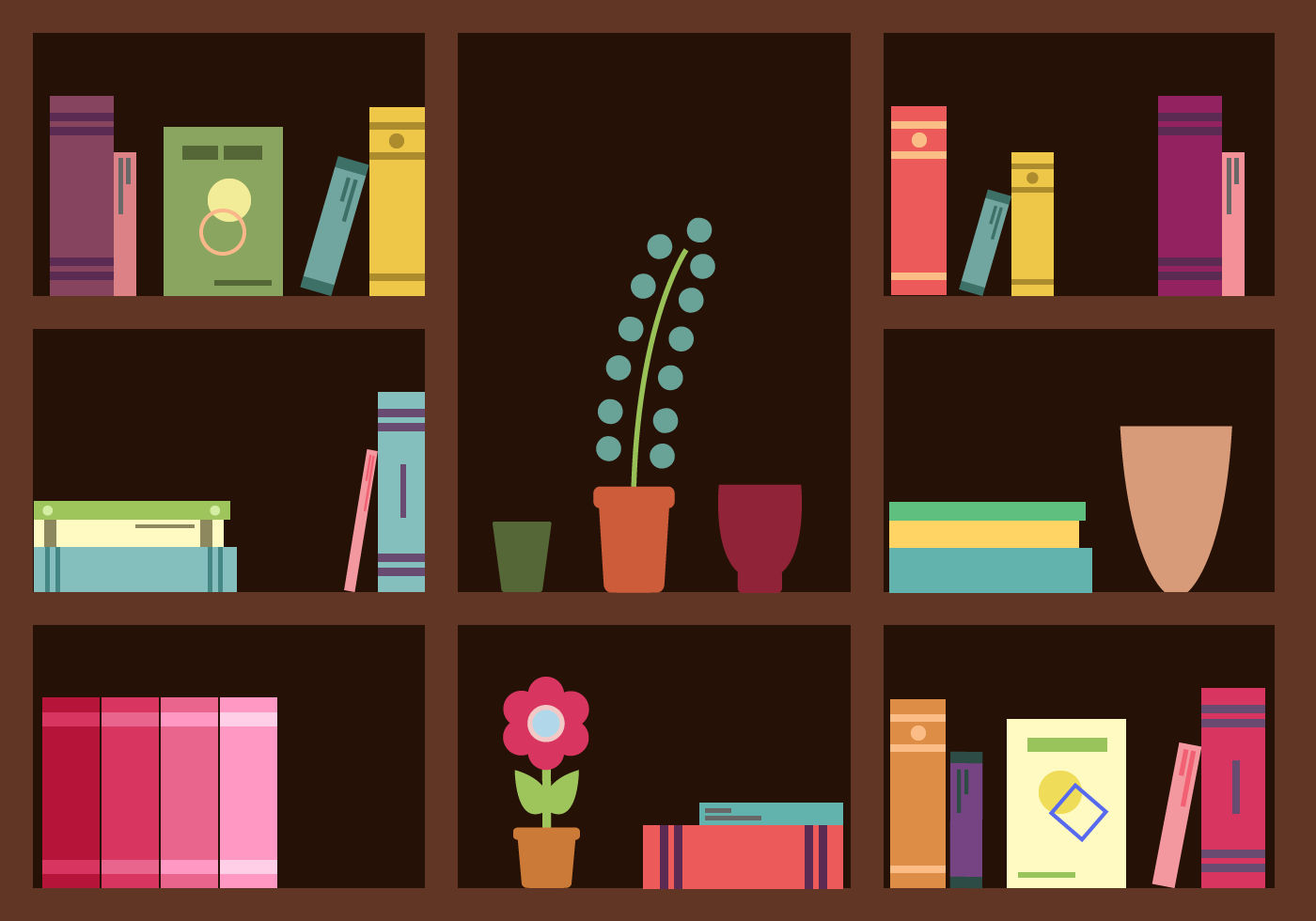 Free Bookshelf Vector Bookshelf Art Vector Free Free Vector Illustration