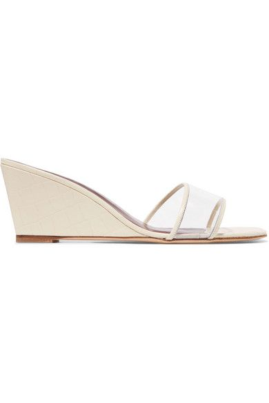 26ca688e1dc Billie croc-effect leather and PVC wedge sandals