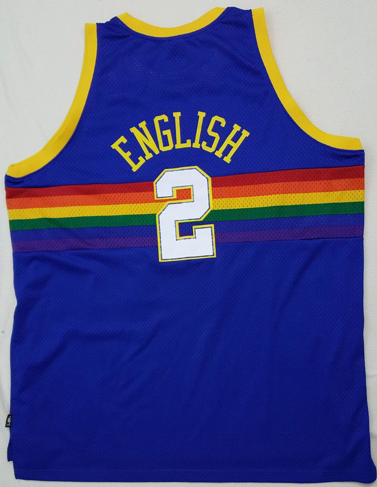 denver nuggets 2 alex english blue rainbow swingman throwback jersey ce0be898a