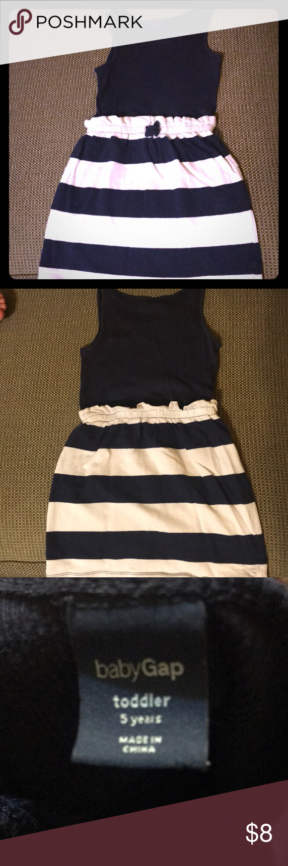 The Cutest Babygap Navy White Girls Dress 5t White Girls Girls Dresses 5t Girls White Dress [ 1740 x 580 Pixel ]