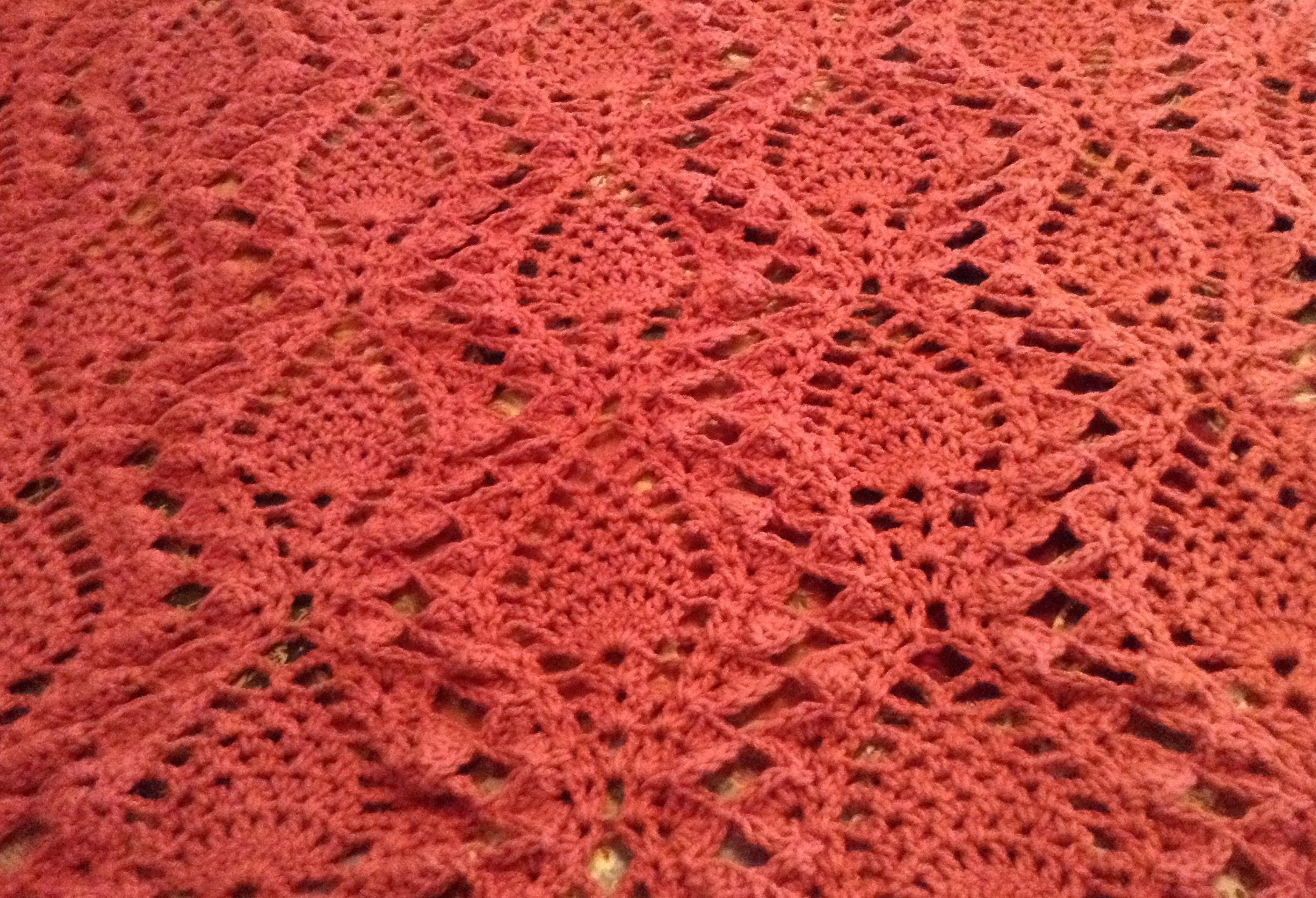 Mile a minute pineapple afghan. Modified from Annie\'s Mile a Minute ...