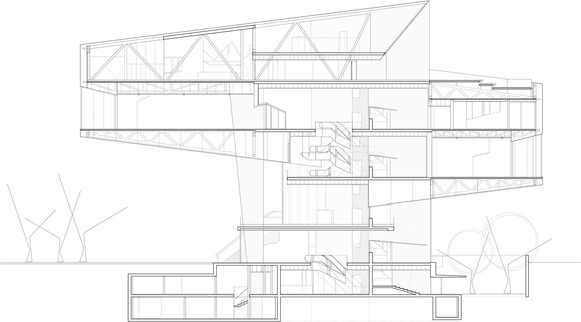 Galeria de caixaforum zaragoza estudio carme pinos 37 technical draw - Estudio arquitectura zaragoza ...