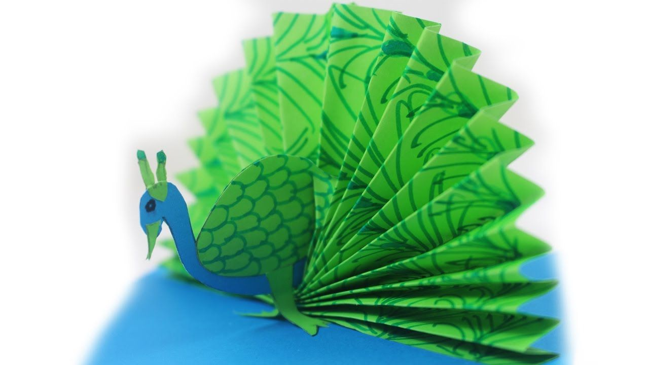 Origami Peacock How To Make A Paper Easy Tutorial Diagram P