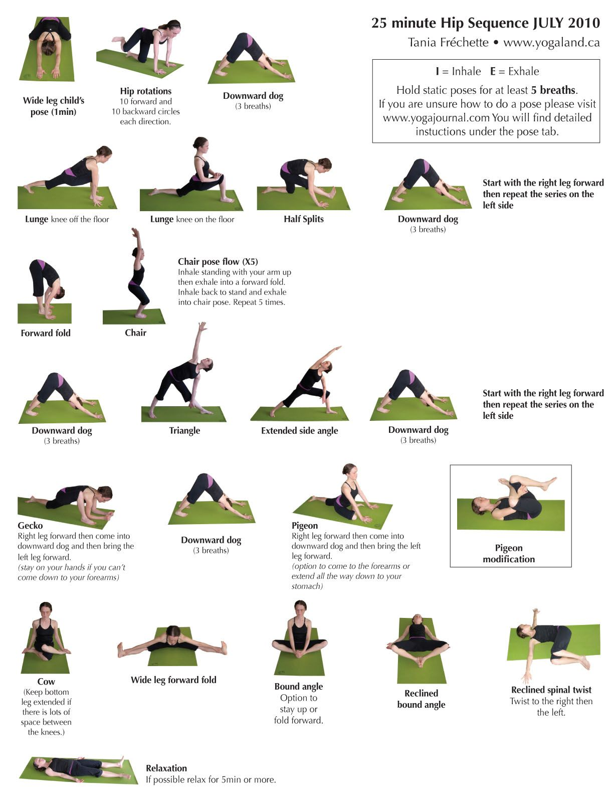 Yoga Hip Sequence Many Of These Are Used In My Prenatal Yoga Classes Yoga Sequences Yoga Fitness Prenatal Yoga