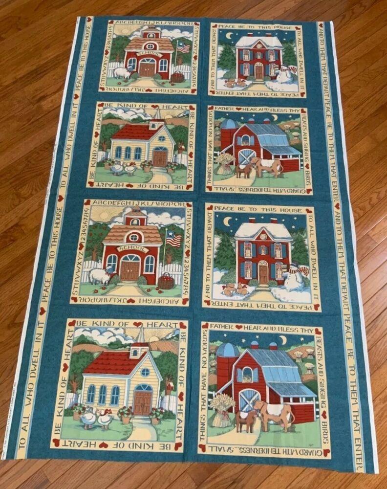 Susan Winget Vintage Fabric Tradition Panel Block Barn