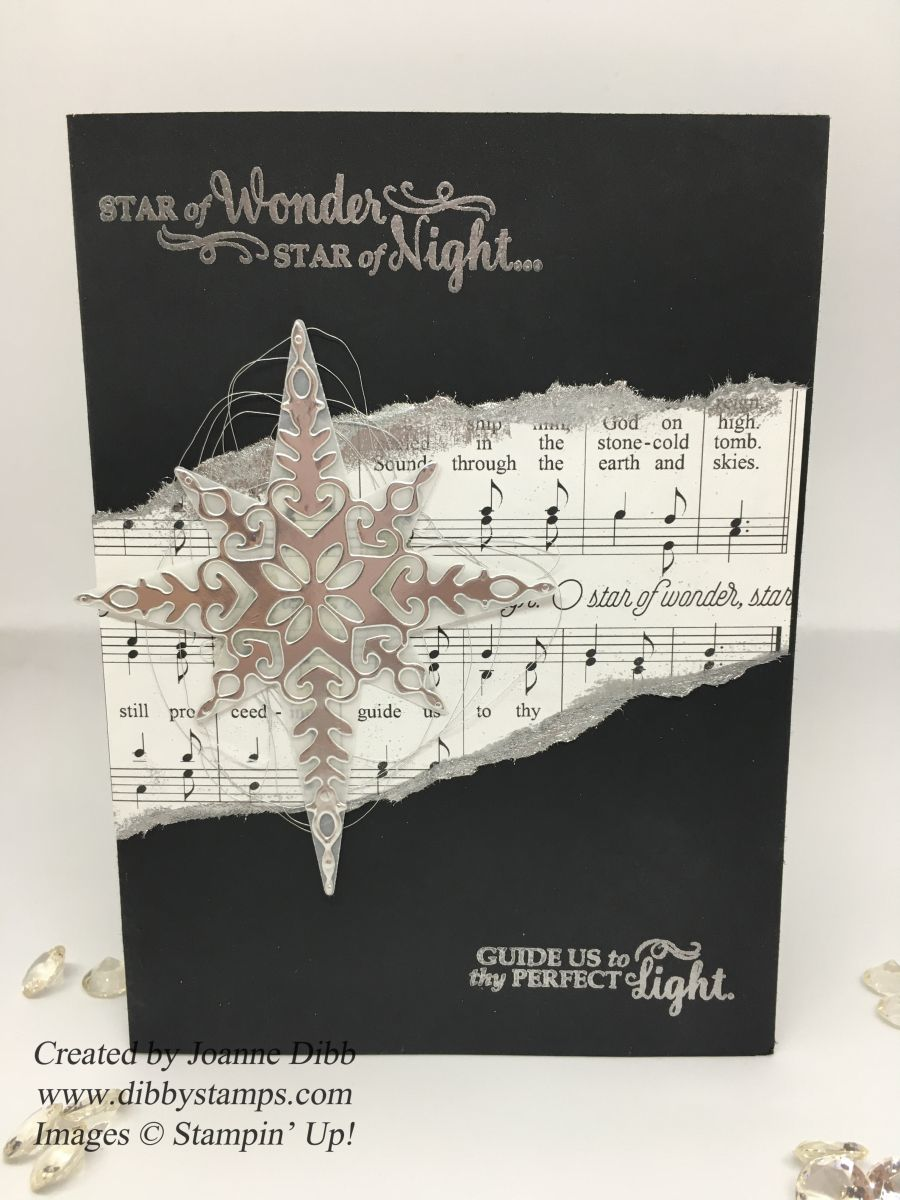 For today's card I've gone for a more traditional feel using a black, white and silver colour scheme and some of the music paper from the Merry Music Speciality Designer Series Paper. I…