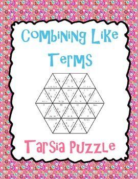 Combining Like Terms Fun Teaching Resources | Teachers Pay Teachers