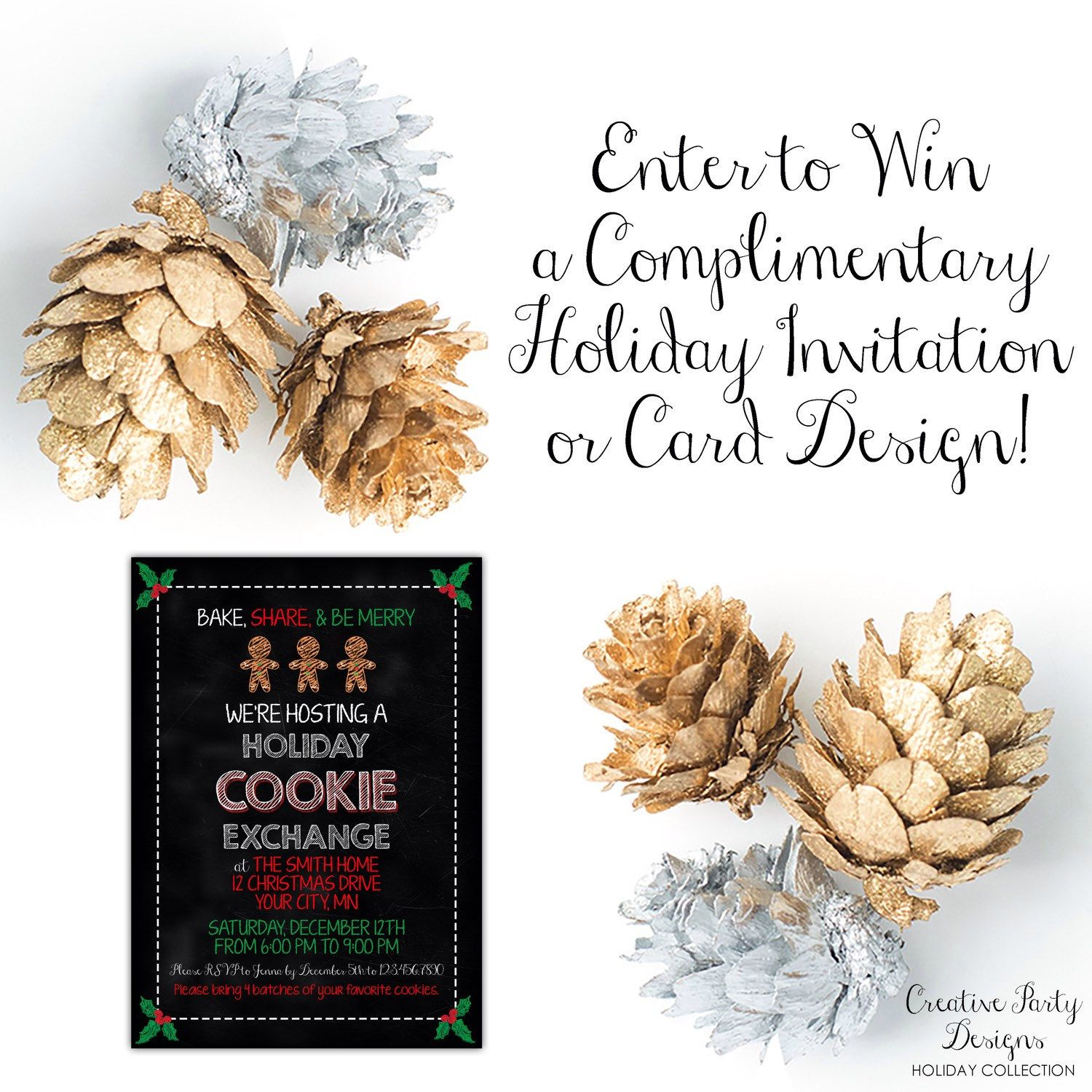 ❄️ Enter to win a complimentary holiday card or holiday invitation design on Facebook ➡️ https://www.facebook.com/CreativePartyDesigns1/posts/423633007830560:0