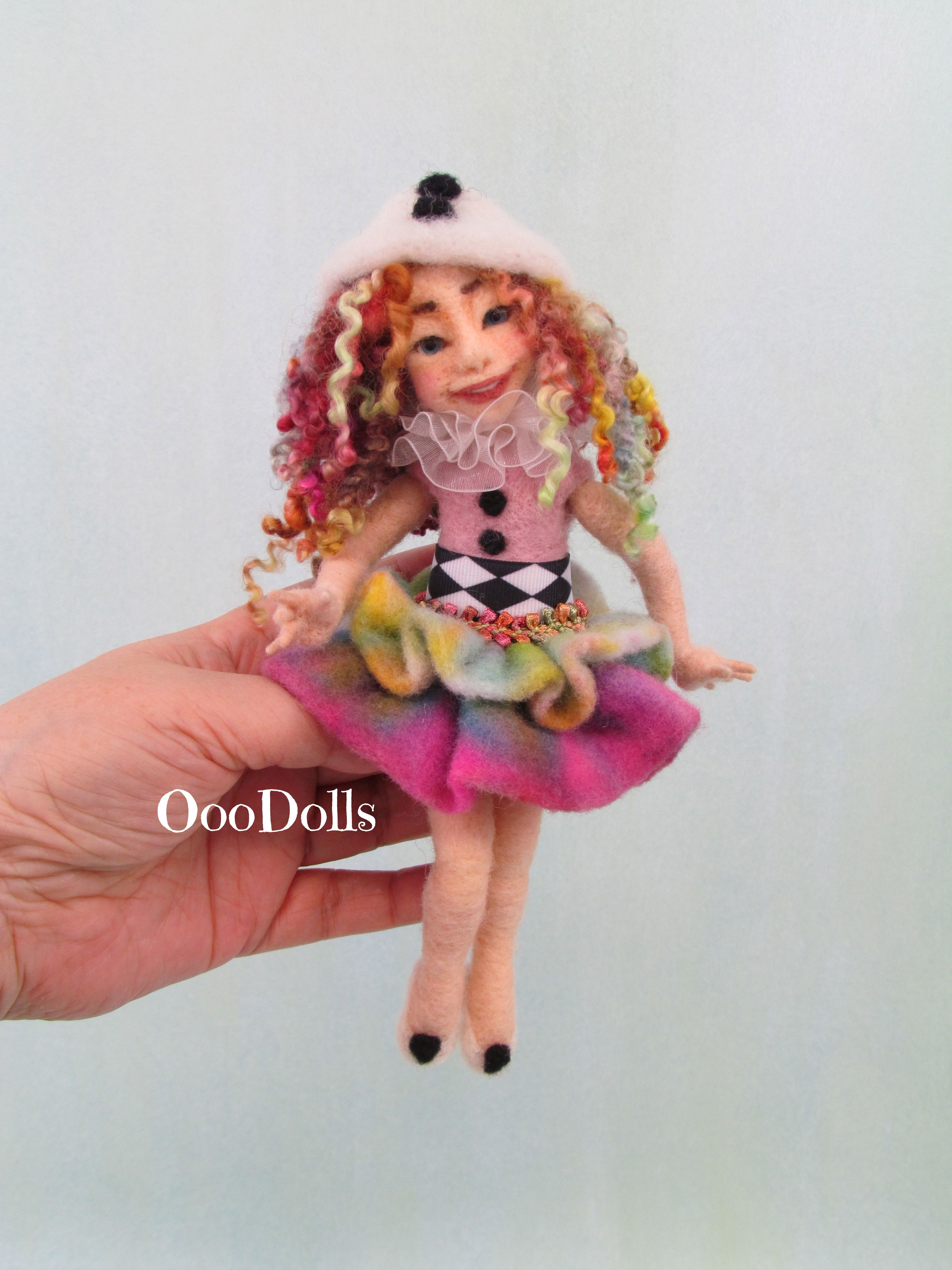 Needle Felt Doll By Colleen Spies Poseable Doll With Internal