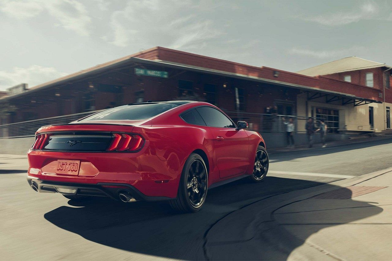 The 2018 Mustang In Race Red With Black Appearance Package Ford