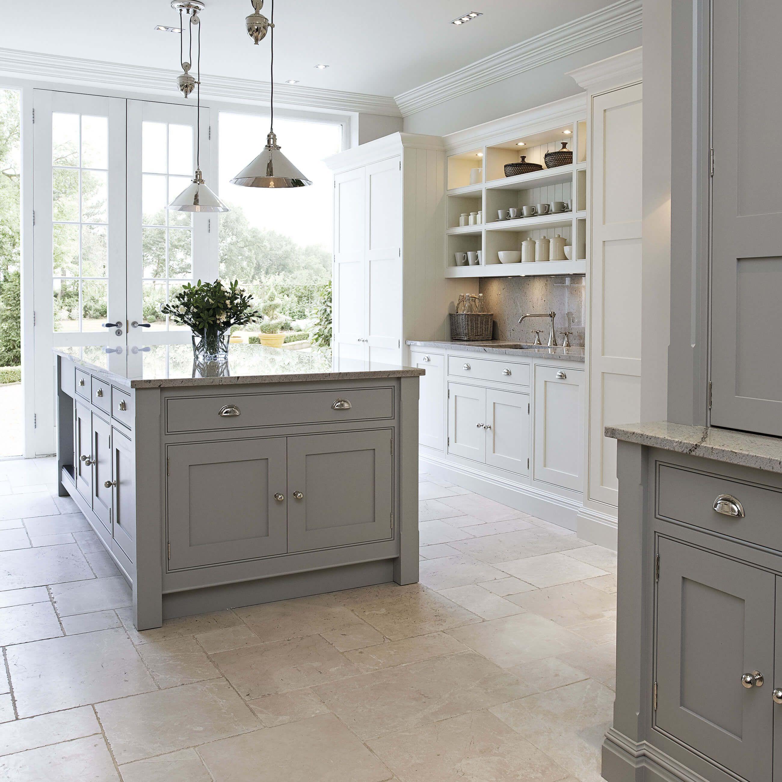 Contemporary Shaker Kitchen in 2020 Kitchen flooring
