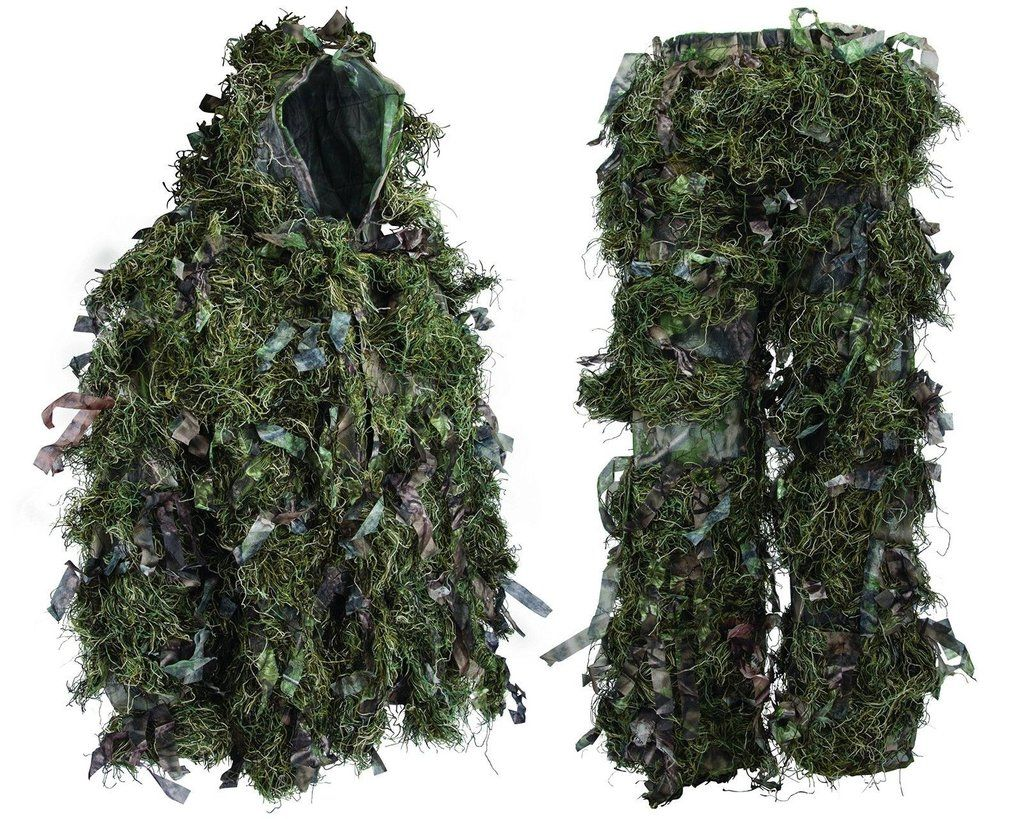 Clothing, Shoes & Accessories Hunting Ghillie Suits 3d Bionic Leaf Hunting Clothes Durable Outdoor Woodland Camouflage Suits Paintball Ghillie Suit Cloak