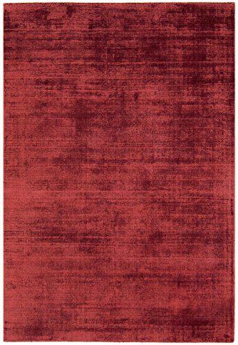 Teppich Wohnzimmer Carpet hochflor Design BLAD SHAGGY UNI RUG 100 - wohnzimmer rot beige