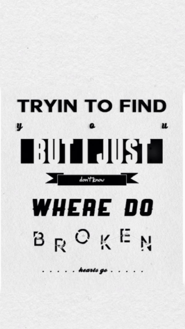 Where Do Broken Hearts Go - One Direction | One Direction Lyric ...