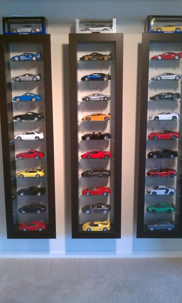 Popular (but now discontinued) Ikea shelves make for great display cases for your collectibles.
