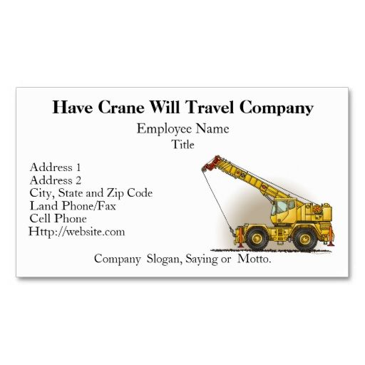 Crane construction business cards construction business cards crane construction business cards colourmoves Images