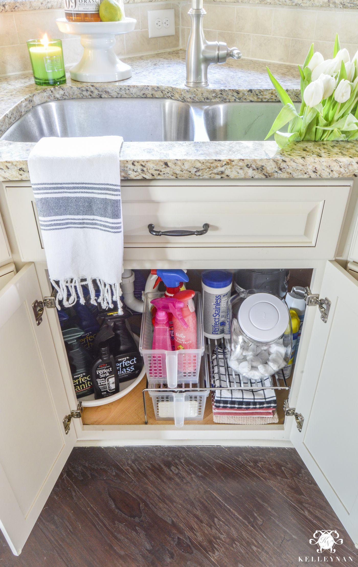 Organization For Under The Kitchen Sink Kelley Nan Kitchen Sink Organization Under Kitchen Sinks Kitchen Organization