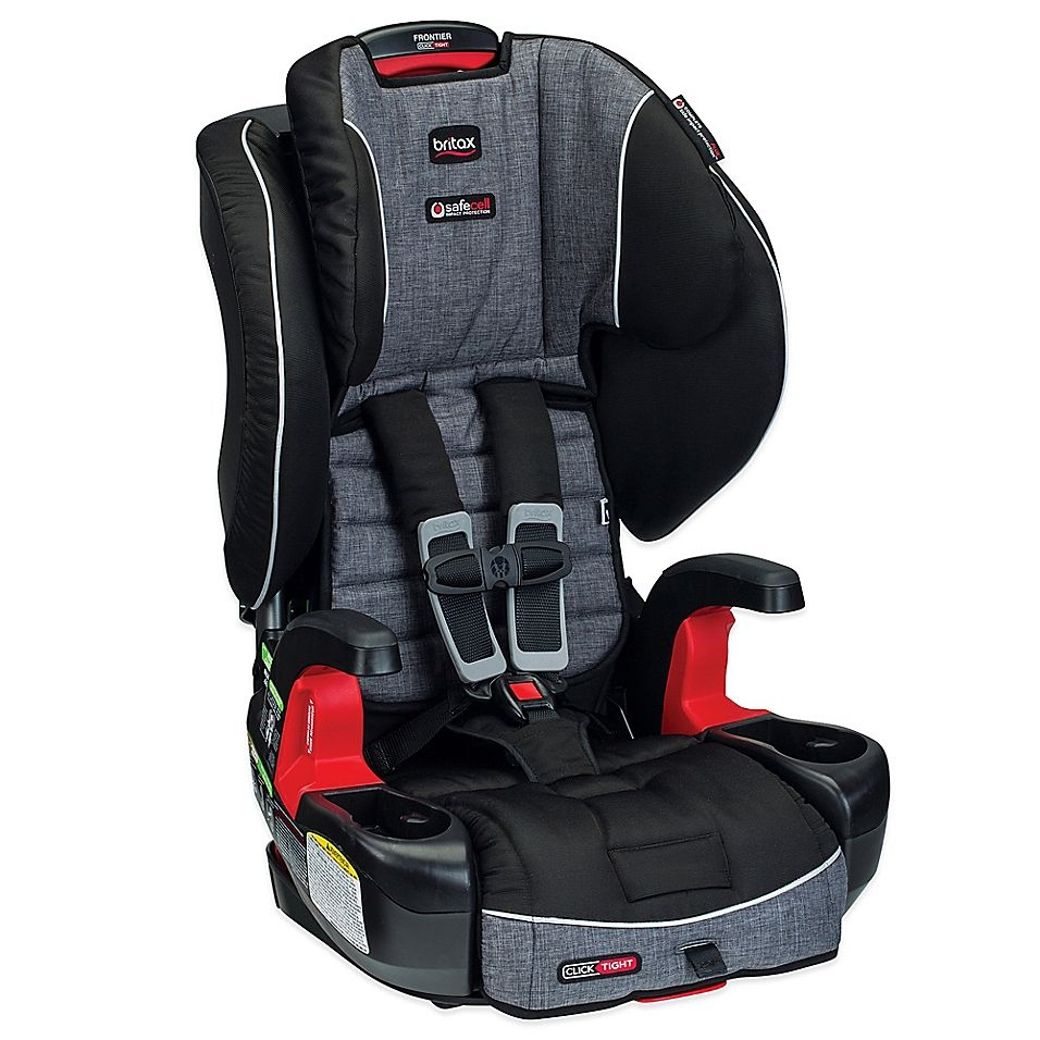 Britax Frontier Clicktight Harness 2 Booster Seat In Vibe Dark Grey Products In 2019 Booster Car Seat Best Booster Seats Britax Frontier