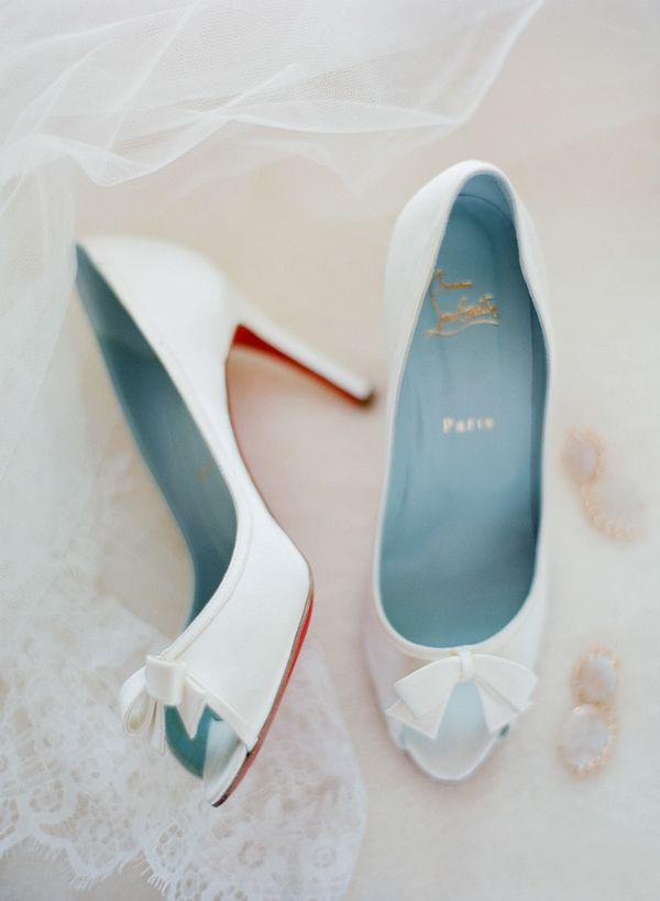christian louboutin white wedding shoes