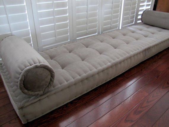 Custom Bench Cushion Velvet Window Seat French Mattress Quilted Tufted Foam Cushions