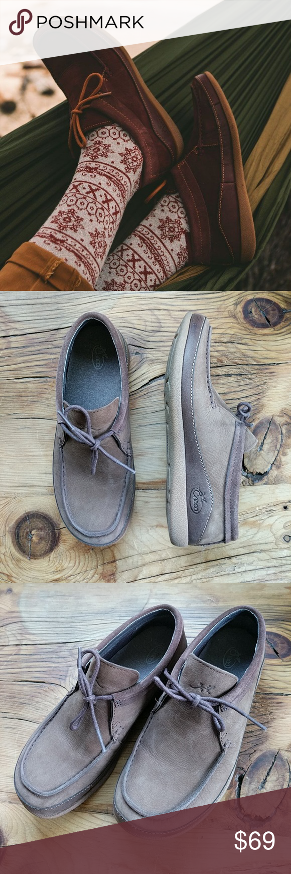 64353463f3e3 NWOT Chaco Pineland Moc Pinecone Brown 7.5 Ready for your moccasin  mainstay  Reach for the