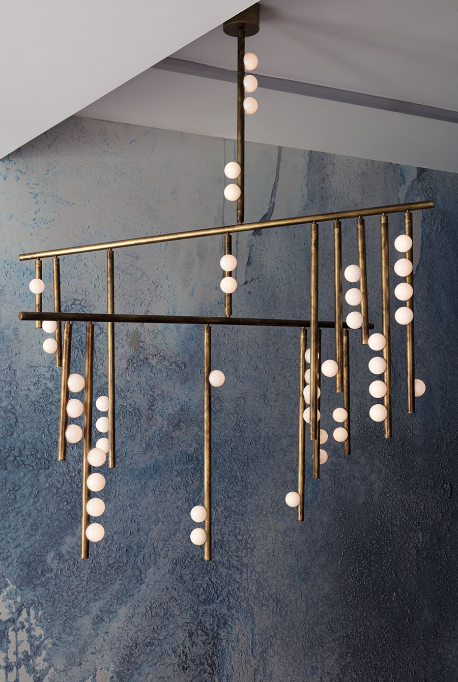 Modern Branch Chandelier Glass Balls Magic Beams Pendant Lamp Light Luxury Loft Lighting Fixture Living Room Decoration Lindsey Chandeliers Lights & Lighting